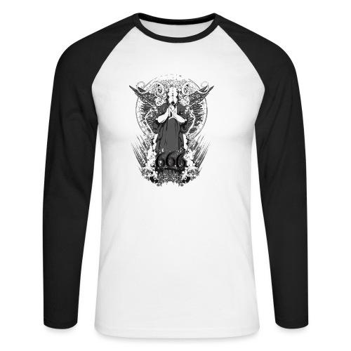 Metalliluola logo ja Demoniac 666 - Miesten pitkähihainen baseballpaita