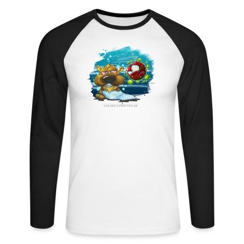 stay cool - and keep chasing toiletpaper - Männer Baseballshirt langarm