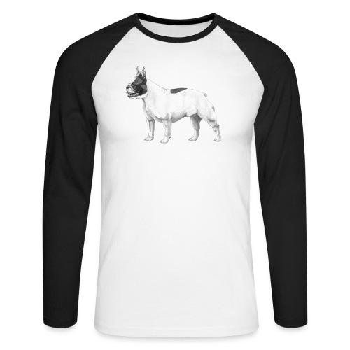 French Bulldog - Langærmet herre-baseballshirt