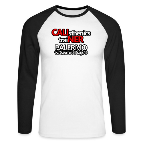 Caliner Palermo T-shirt - Maglia da baseball a manica lunga da uomo