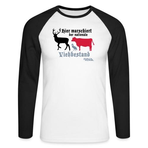Motiv nationaler Viehbestand - Männer Baseballshirt langarm
