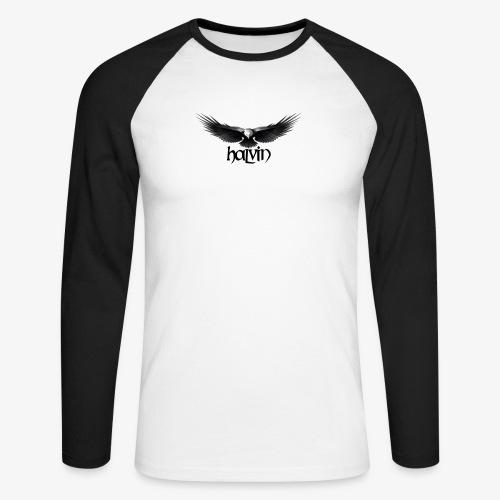 Halvin - Langermet baseball-skjorte for menn