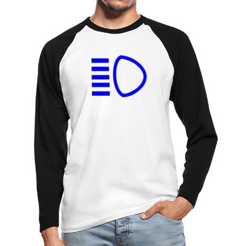 High Beam - Men's Long Sleeve Baseball T-Shirt
