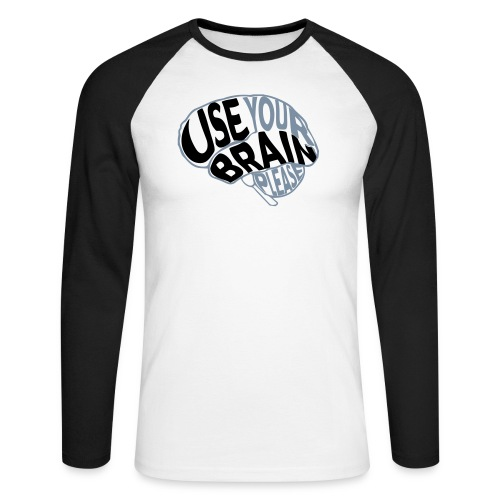 Use your brain - Maglia da baseball a manica lunga da uomo