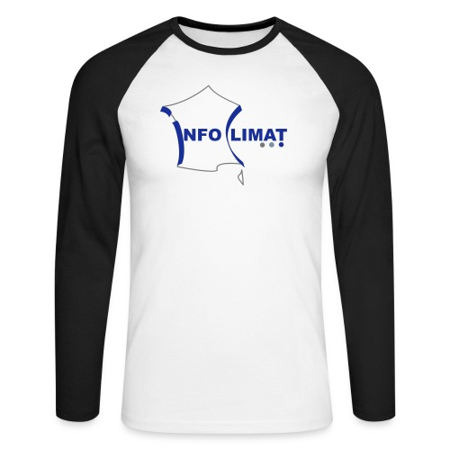 logo simplifié - T-shirt baseball manches longues Homme
