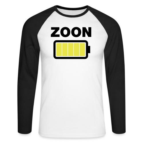 Batterij zoon vol - Mannen baseballshirt lange mouw