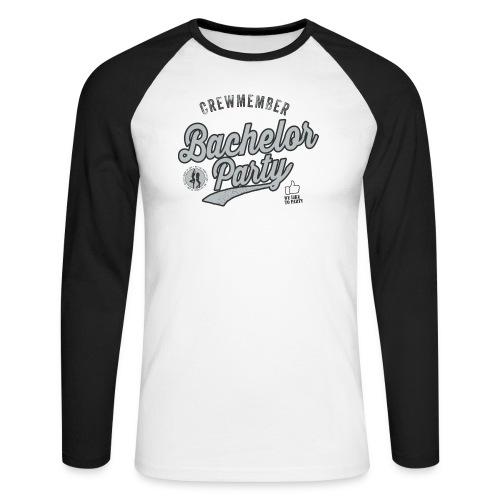 Vrijgezellenfeest Crew grijs - Mannen baseballshirt lange mouw