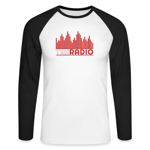NEW TMI LOGO RED AND WHITE 2000 - Men's Long Sleeve Baseball T-Shirt