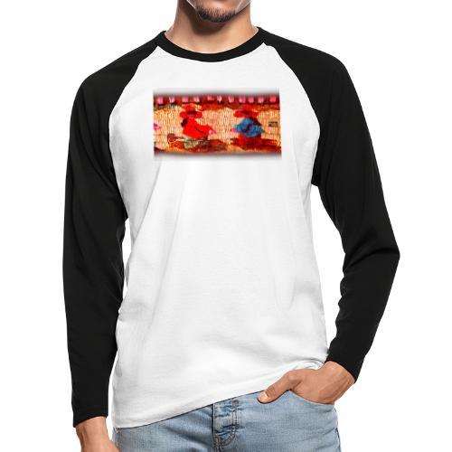 Dos Paisanitas tejiendo telar inca - Men's Long Sleeve Baseball T-Shirt