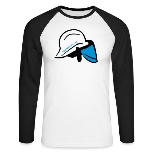 Feuerwehr Helm - Männer Baseballshirt langarm