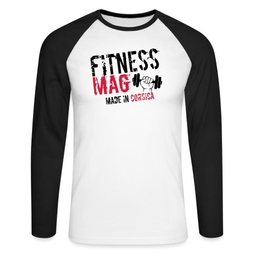 Fitness Mag made in corsica 100% Polyester - T-shirt baseball manches longues Homme