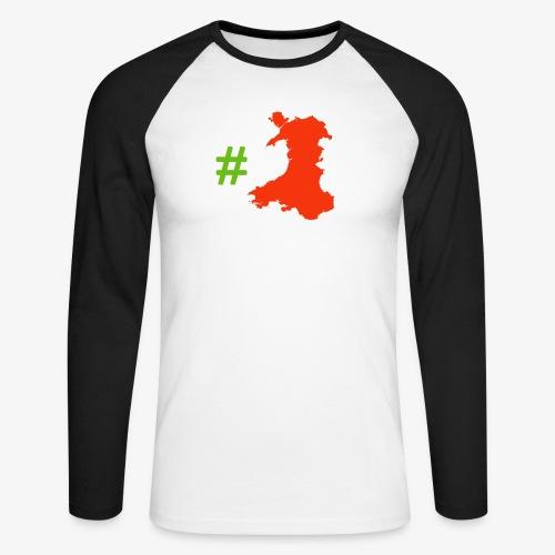 Hashtag Wales - Men's Long Sleeve Baseball T-Shirt