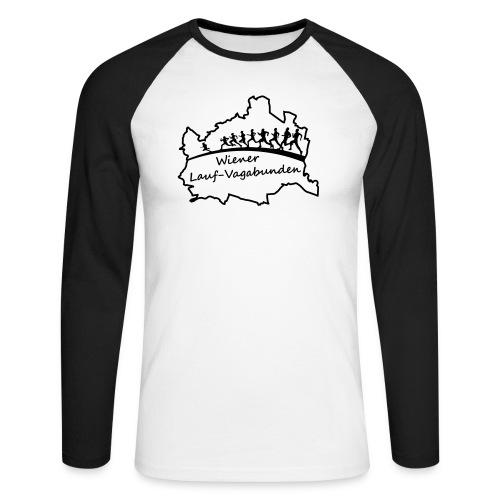 Laufvagabunden T Shirt - Männer Baseballshirt langarm