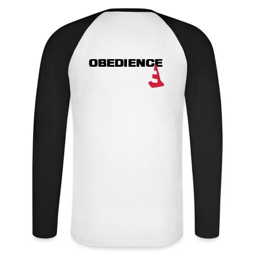 Obedience mit Pylone - Männer Baseballshirt langarm