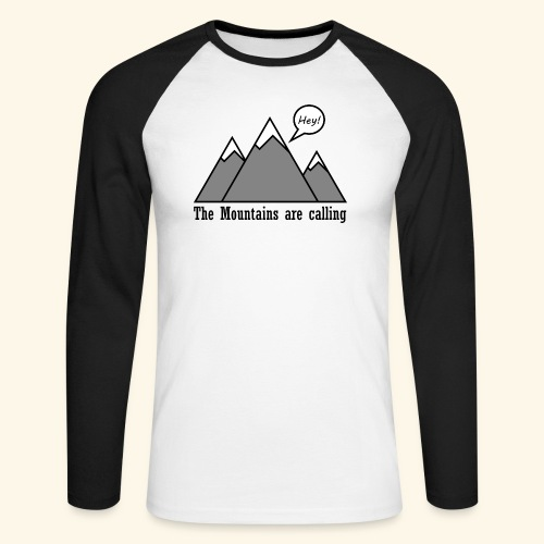 mountains calling - Männer Baseballshirt langarm