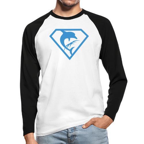 Super-Delfin - Männer Baseballshirt langarm