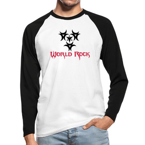 Motif World Rock - T-shirt baseball manches longues Homme