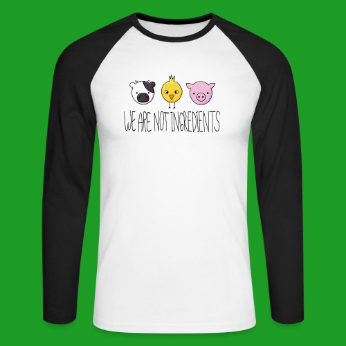 Vegan - We are not ingredients - T-shirt baseball manches longues Homme