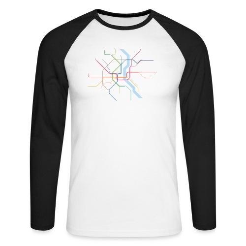 Subway Cologne (hell) - Männer Baseballshirt langarm