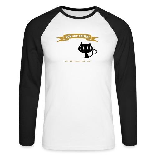Hauptsache Katzenliebe! - Männer Baseballshirt langarm