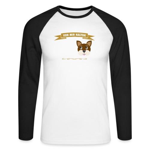 Hauptsache Hundeliebe! - Männer Baseballshirt langarm