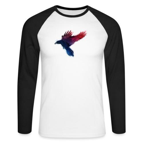 Watercolor Raven - Männer Baseballshirt langarm