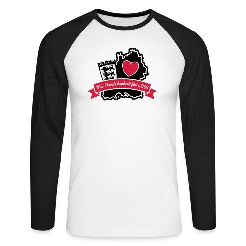 Herzle BW - Männer Baseballshirt langarm