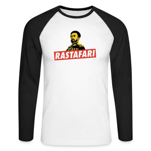 Rastafari - Haile Selassie - HIM - Jah Rastafara - Männer Baseballshirt langarm