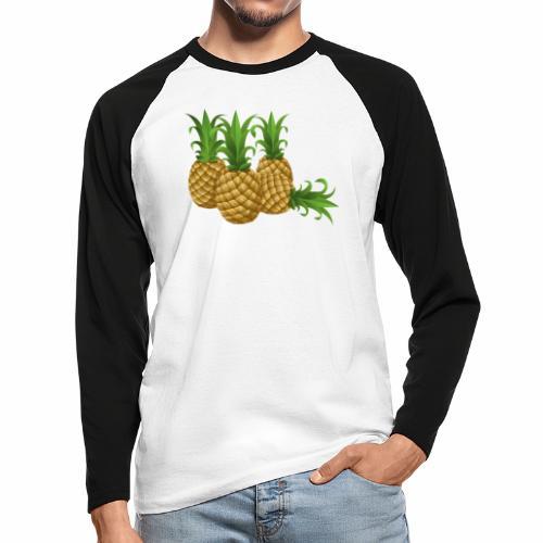 Ananas - Männer Baseballshirt langarm