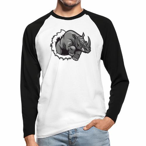Méchant rhinocéros - T-shirt baseball manches longues Homme