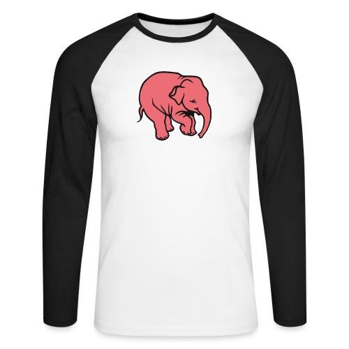 DT olifant - Mannen baseballshirt lange mouw