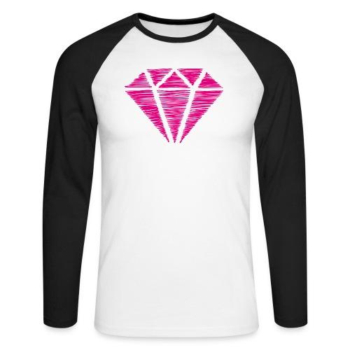 Diamante rosa - Raglán manga larga hombre
