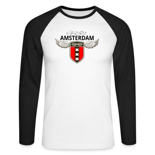 Amsterdam Netherlands - Männer Baseballshirt langarm