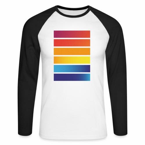 Colorful stripes - Men's Long Sleeve Baseball T-Shirt