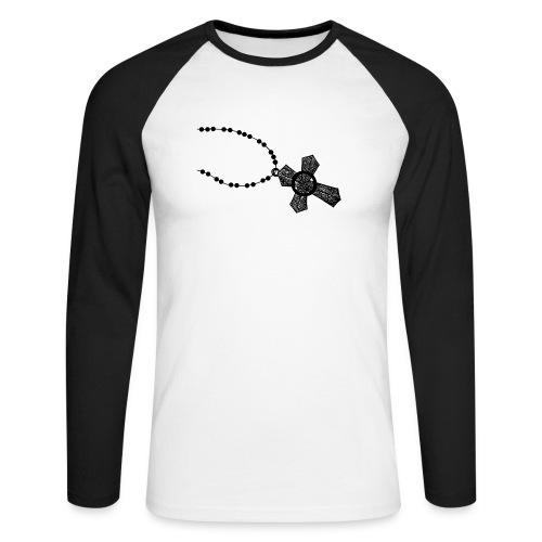 kruis 2 png - Mannen baseballshirt lange mouw
