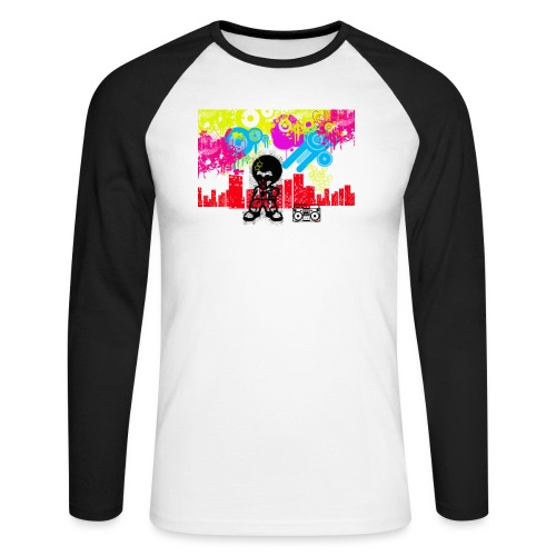 T-Shirt Happiness Uomo 2016 Dancefloor - Maglia da baseball a manica lunga da uomo