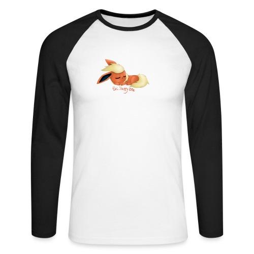 eevee - flareon - the sleppy one - Men's Long Sleeve Baseball T-Shirt
