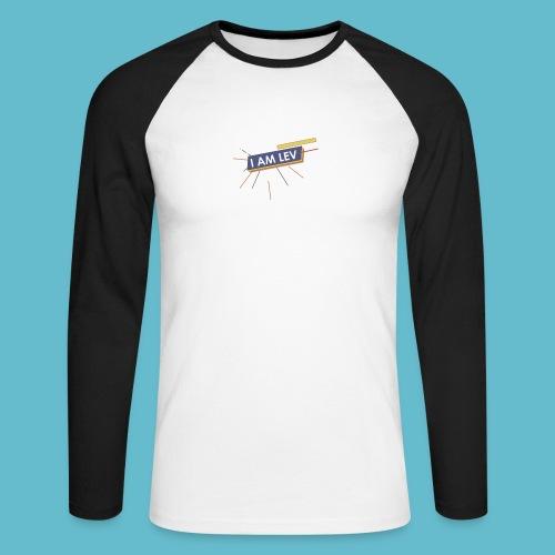 I AM LEV Banner - Mannen baseballshirt lange mouw