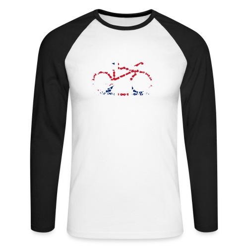 GB Cycling Chain Print - Men's Long Sleeve Baseball T-Shirt