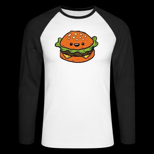 Star Burger - Mannen baseballshirt lange mouw
