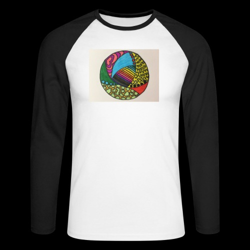 circle corlor - Langærmet herre-baseballshirt