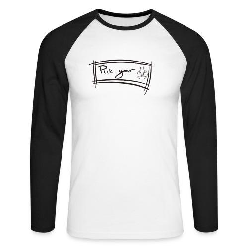 Pick Your Poison - Men's Long Sleeve Baseball T-Shirt