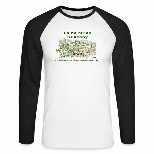 Lá na mban Kilkenny Wordle - Men's Long Sleeve Baseball T-Shirt