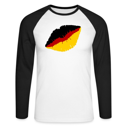 Deutschland Lippen Motiv - Männer Baseballshirt langarm