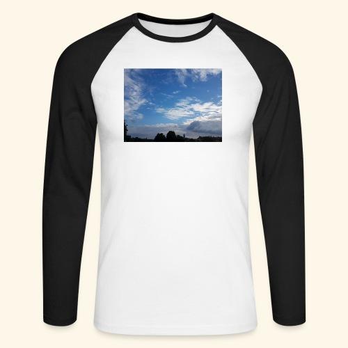 himmlisches Wolkenbild - Männer Baseballshirt langarm