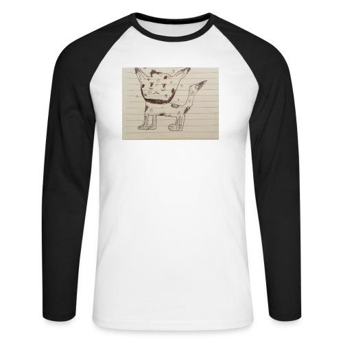 Wolf - Men's Long Sleeve Baseball T-Shirt