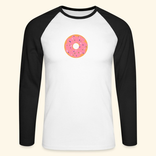 Donut-Shirt - Männer Baseballshirt langarm
