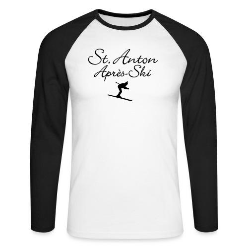 St. Anton Après-Ski Skifahrer - Männer Baseballshirt langarm