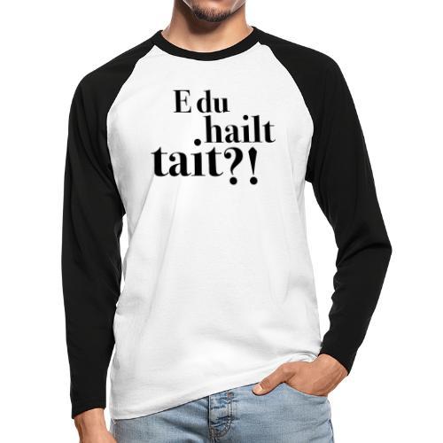Hailttait - Langermet baseball-skjorte for menn