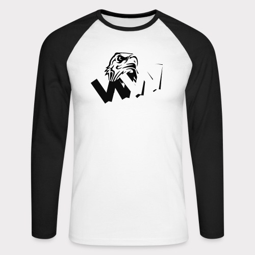 White and Black W with eagle - Men's Long Sleeve Baseball T-Shirt